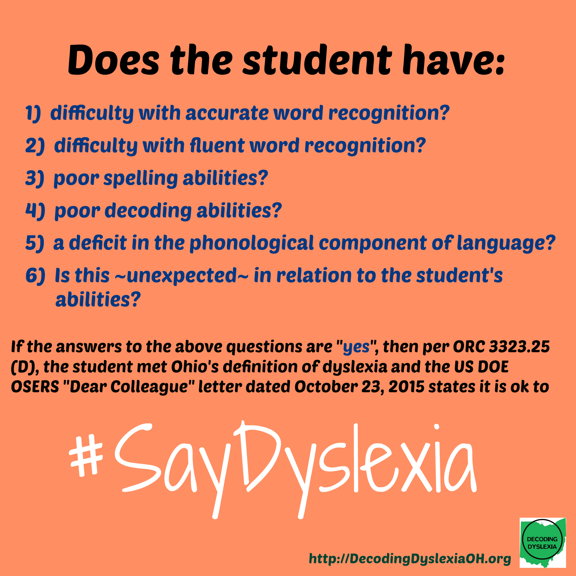 Dyslexia Definition Ohio