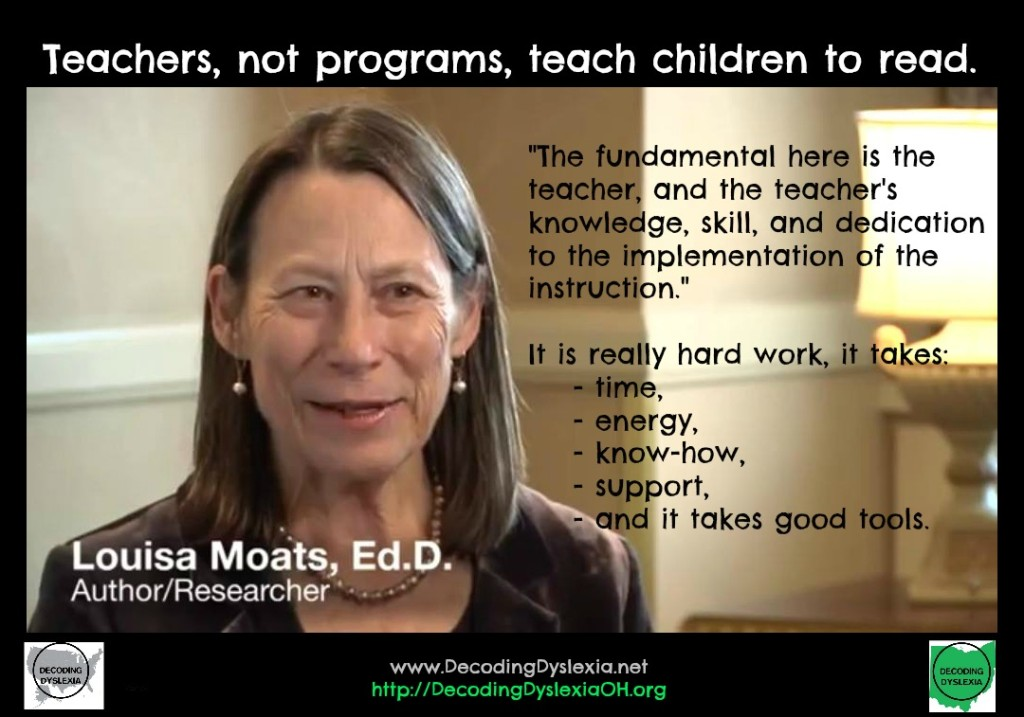 Moats quote teachers not programs